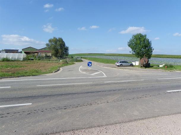 Carrefour entre Schwindratzheim et Mommenheim