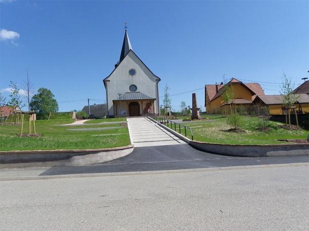 Aménagement Eglise Huttendorf - M2I VRD